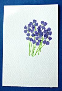 hammered flower prints - finished