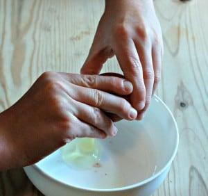 Egg and Pasta Pasta - break egg into bowl