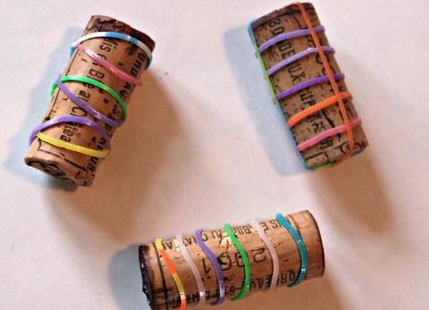 slip bands over corks