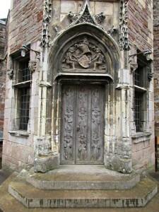 Berkeley castle - carved door