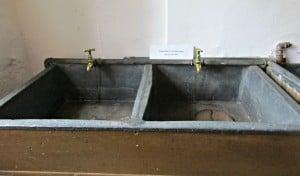 Berkeley castle - lead lined sinks