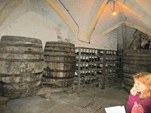 Berkeley castle - wine cellars