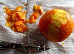 Drying Orange Rind - par off rind