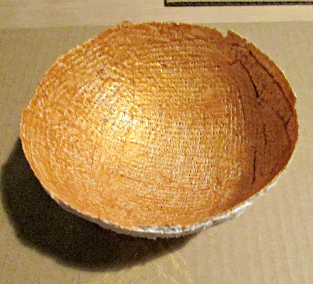 Modroc Christmas Bowls - inside painted