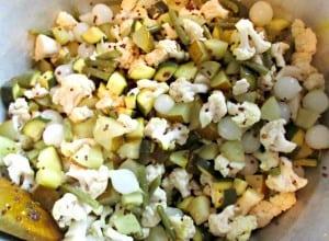 Autumn Piccalilli - mix in onions