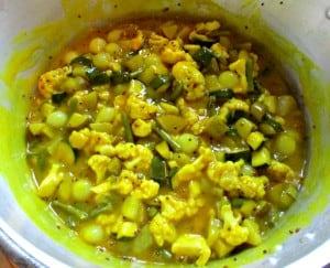 Autumn Piccalilli - mix in sauce