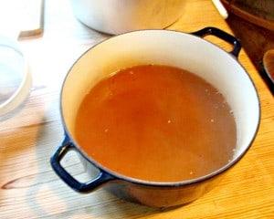 Autumn Piccalilli - strain and reserve vinegar