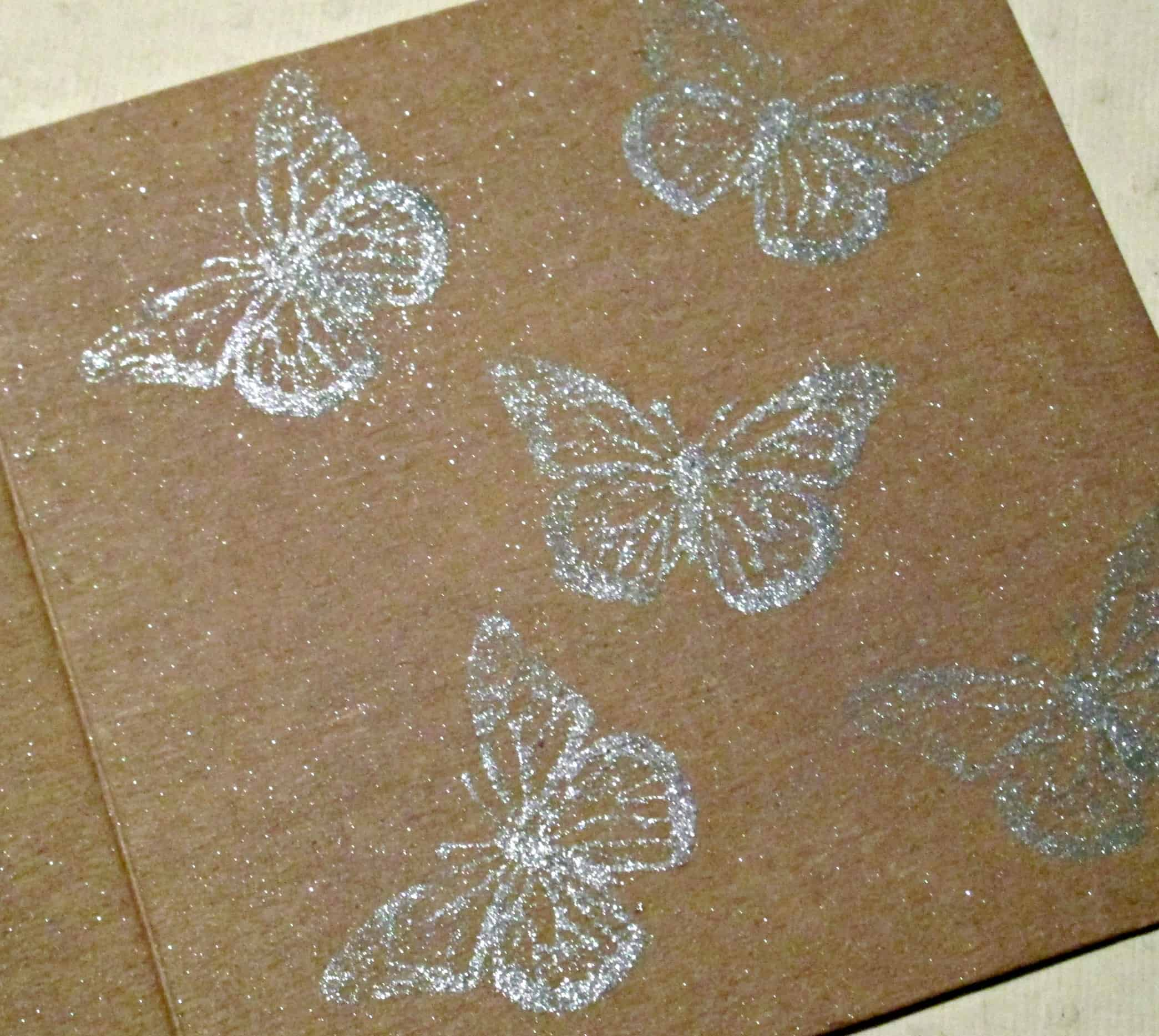 How To Make Embossing Using Glycerine And Eyeshadow