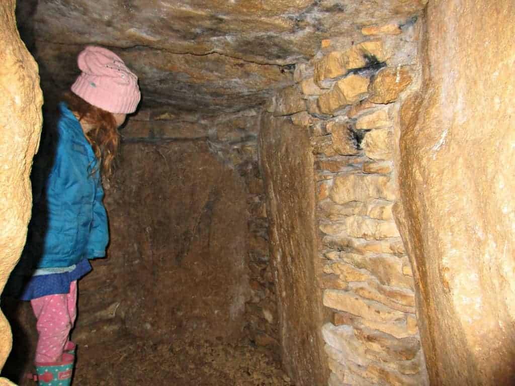 Inside Uley Long Barrow