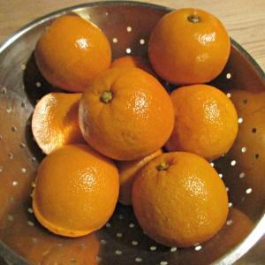 Seville Orange Marmalade - drain softened fruit reserving liquid