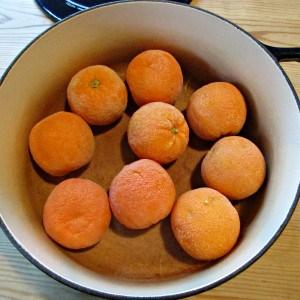 Seville Orange Marmalade - frozen oranges