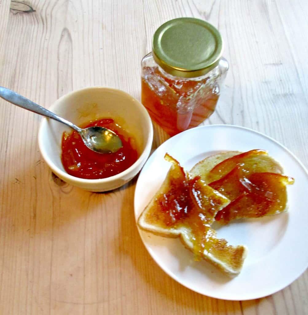 Seville Orange Marmalade - with toast