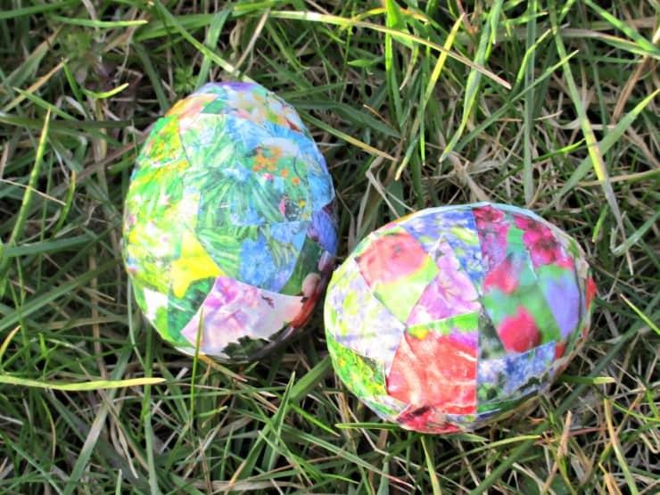 Finished Easter Egg Decoupage