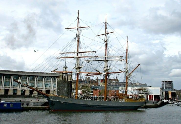 Ship at Bristol Harbour