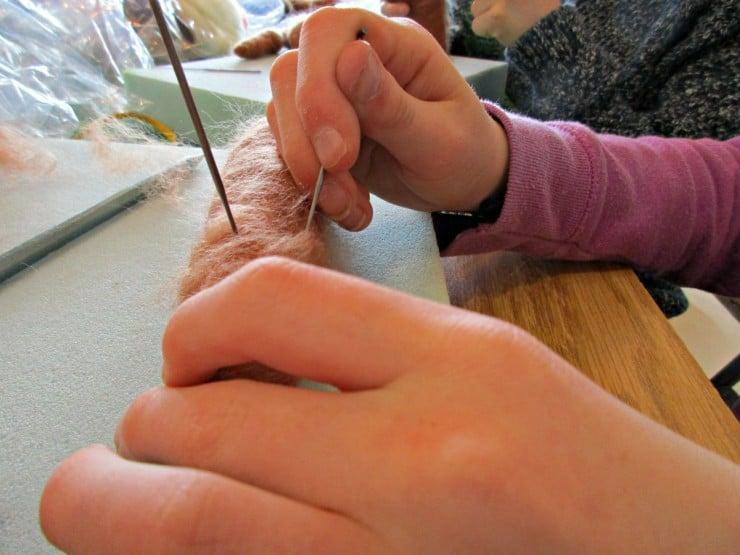 Starting on our needle felting kits