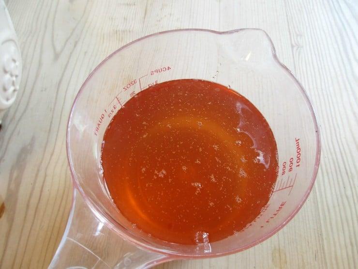 Nettle Cordial - ready for bottling