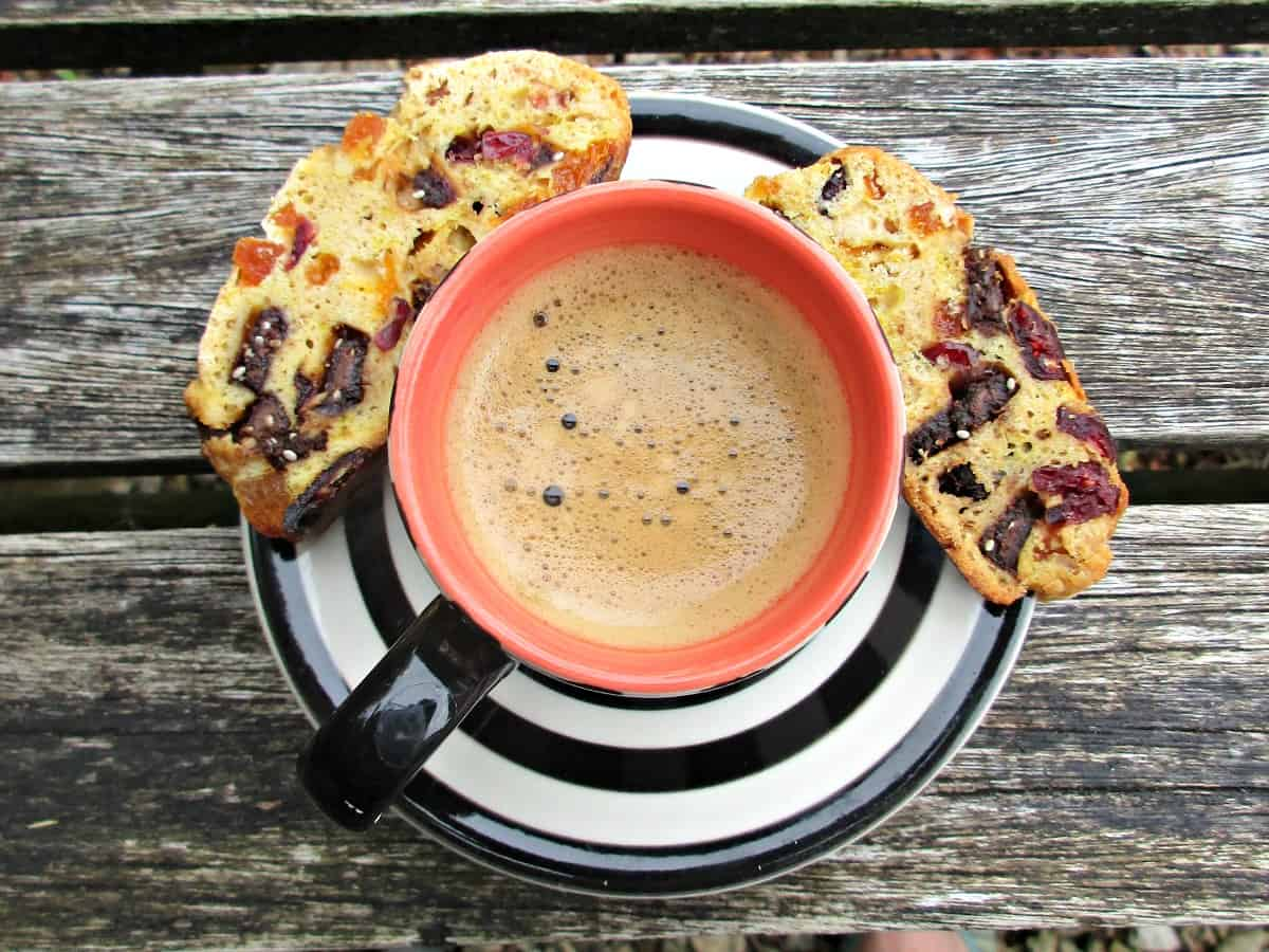 These Orange, Carob and Chia Seed Biscotti contain no refined sugar and are packed with goodness. Our easy to follow recipe is endlessly adaptable - you can even use it to make a savoury biscotti!