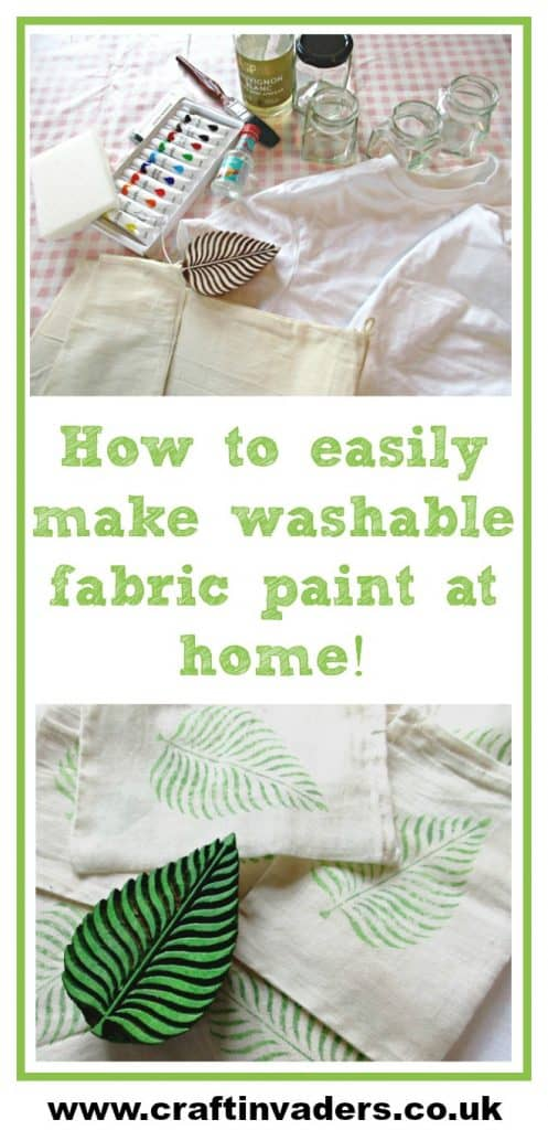 In this tutorial we make our own brilliant diy fabric paint from acrylic paint simply by adding a couple of household ingredients.