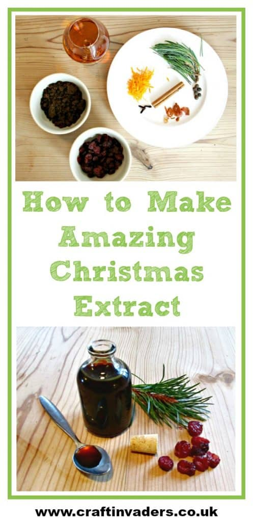 Our Christmas Extract is dark and syrupy, and smells like Christmas trees and mince pies, check out our own unique, easy to follow recipe. Would make a fantastic, original gift.