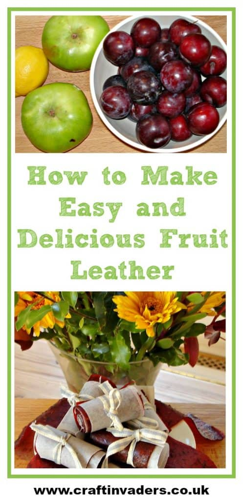 Yummy, healthy, super-easy and cheap to make. Fruit Leather is the ultimate in grab and go snacks! Here we show you how to make Plum and Apple Fruit Leather #Paleo #Vegan #Rollups #HealthySnacks #Bushcraft