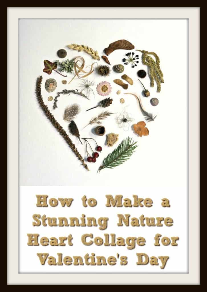 This beautiful heart collage proves that nature collages aren't just for kids. It couldn't be simpler to make, and the result is truly stunning. Nature really is the star of the show in this gorgeous Valentines gift. #NatureCollage #HeartCollage #HeartPicture #Valentines #BostikCrafts