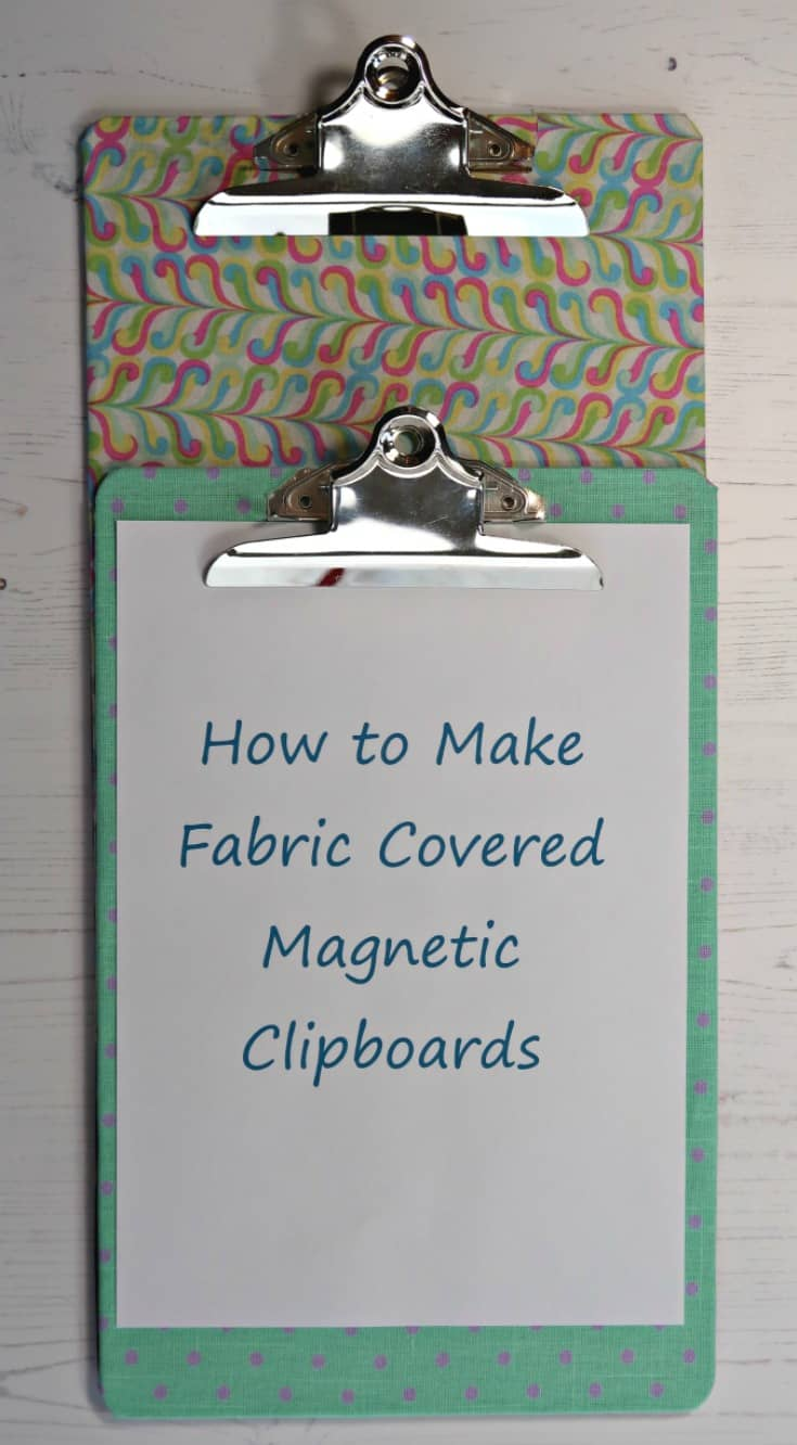These fabric covered magnetic clipboards really help us stay organised. They keep all our paperwork together, and I know exactly where to find them. Thanks to their pretty finish I don't mind them being on display. #ClipboardCrafts #Declutter #OfficeOrganisation #MagneticBoard #MagneticWall