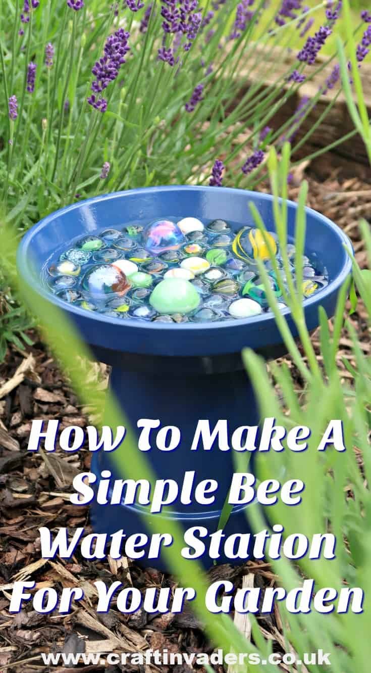 Support the bees in your garden while adding a pop of colour, with our DIY bee water station. #SaveTheBees #gardening #gardeningtips #gardenhacks #bees #attractbees #GardenPlanning #pollinators #beefriendly #wildlifegarden