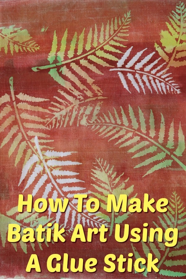 In this easy tutorial, I show you how to make a gorgeous piece of batik art using a glue stick and home-made fabric paint.