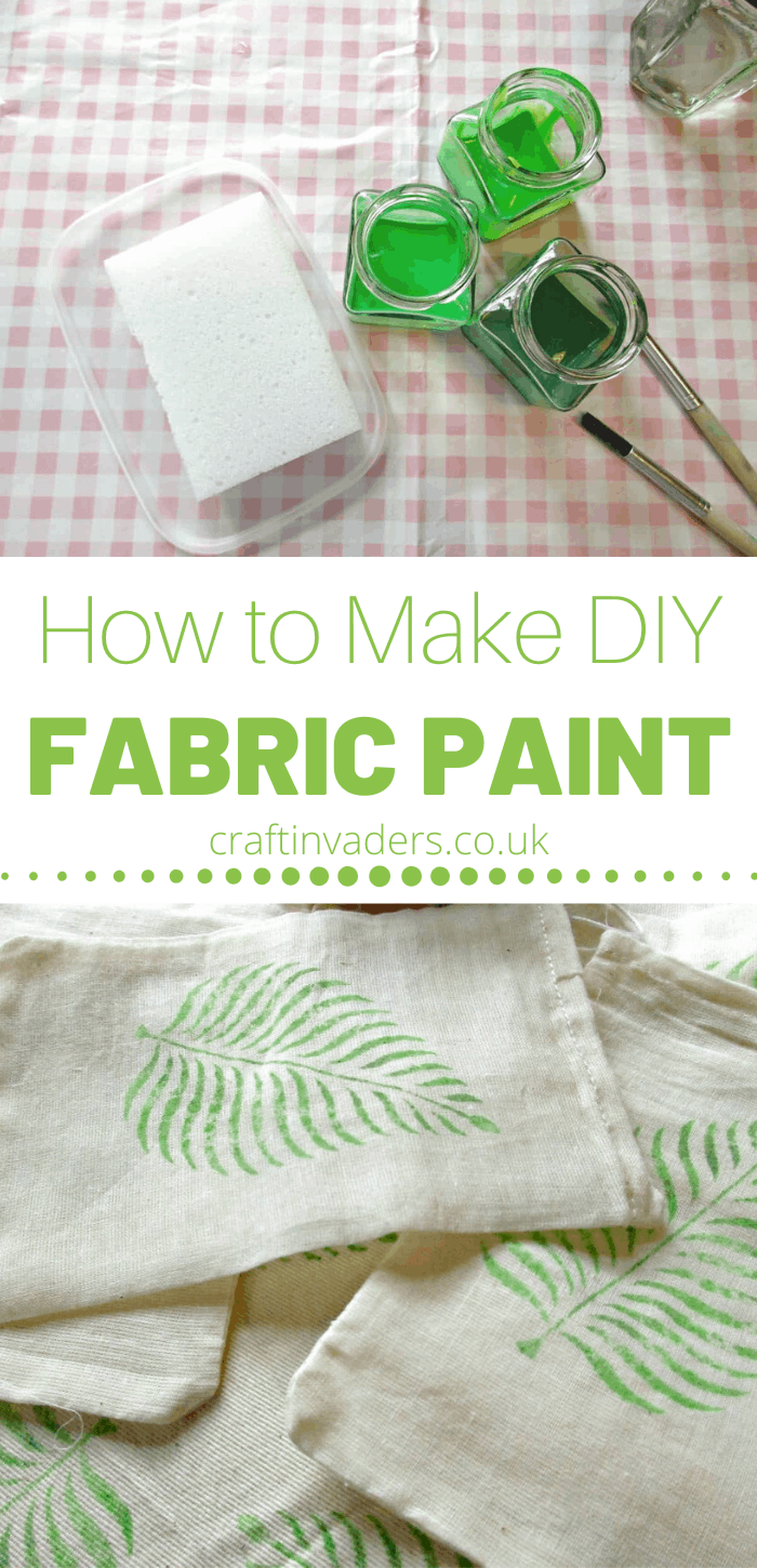 How to make fabric paint: In this tutorial we make our own brilliant diy fabric paint from acrylic paint simply by adding a couple of household ingredients.