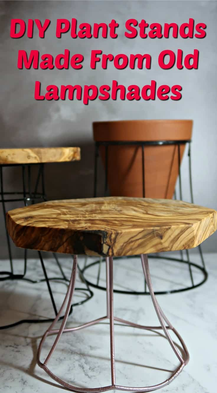 I show you how to upcycle vintage lampshade frames into gorgeous industrial style plant stands that will look fab in any interior.