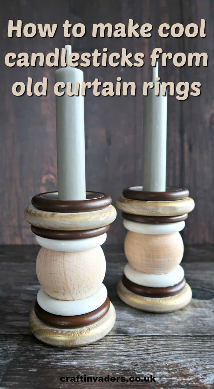 In this simple tutorial, we show you how to reuse old curtain rings to make cool candlesticks.