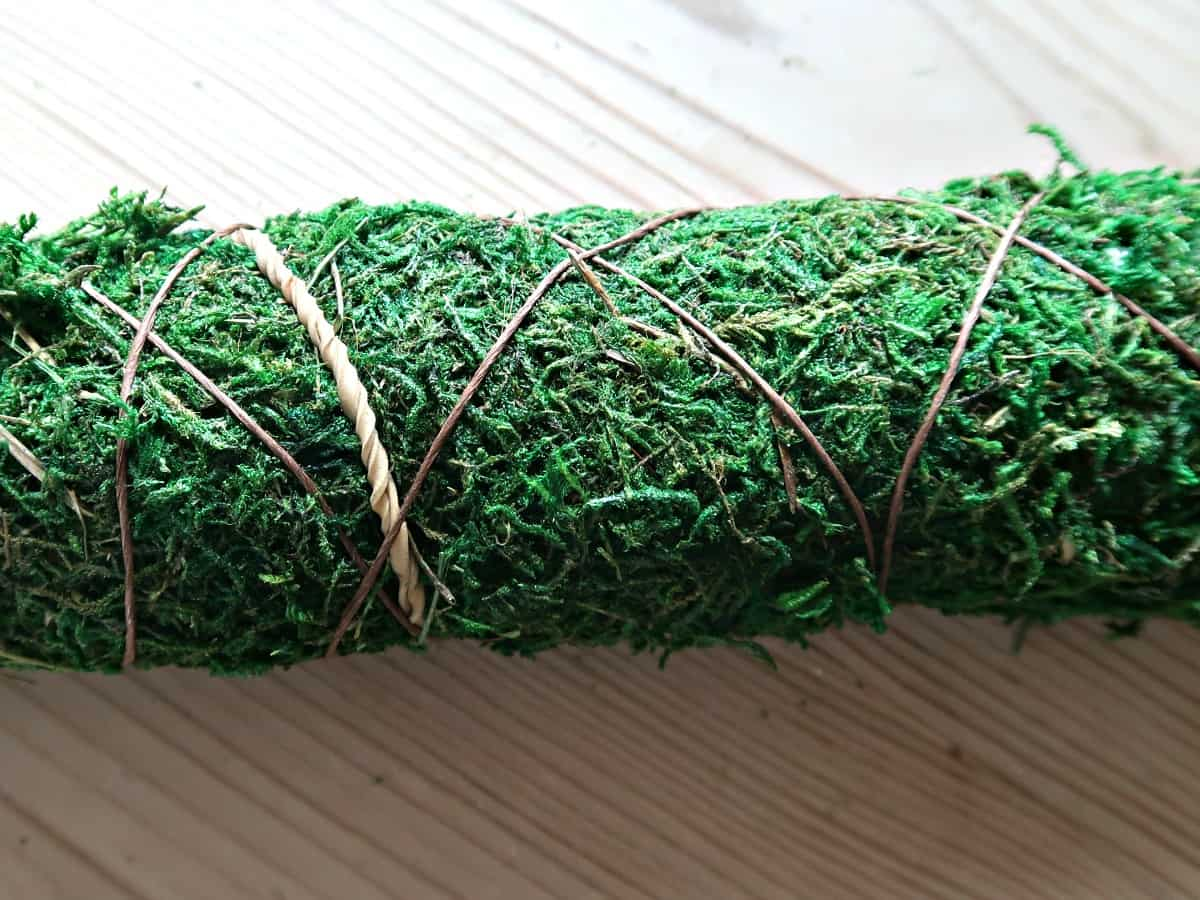 Here I am sharing my quick and simple craft solution for unsightly desk cables. A moss pole cable tidy.