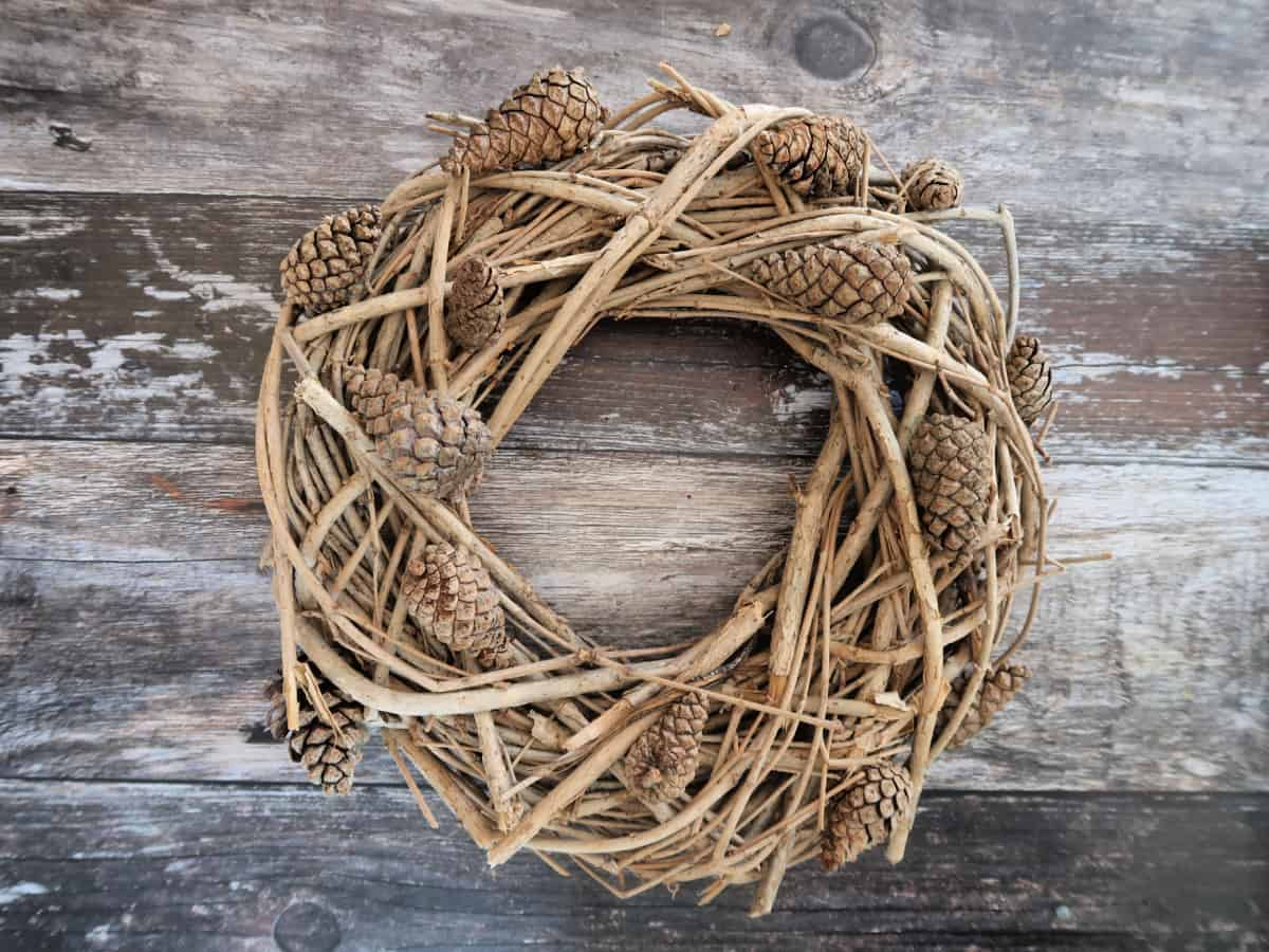 In this step by step tutorial, I show you how to make an easy acorn and pinecone wreath using a grapevine wreath base and nature finds found out on a walk.